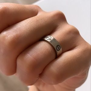 Authentic Cartier Love Ring Size 50 White Gold
